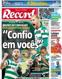 capa Jornal Record de 5 abril 2018