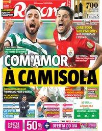 capa Jornal Record de 5 maio 2018