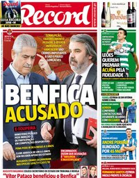 capa Jornal Record de 5 setembro 2018