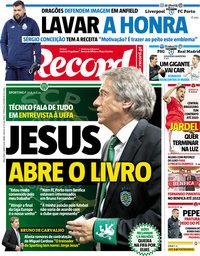 capa Jornal Record de 6 março 2018