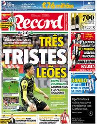 capa Jornal Record de 6 abril 2018