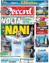 capa Jornal Record de 6 julho 2018