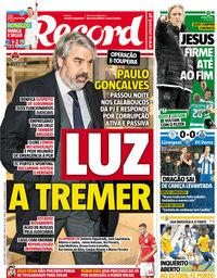 capa Jornal Record de 7 março 2018