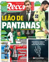 capa Jornal Record de 7 abril 2018