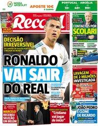 capa Jornal Record de 7 junho 2018