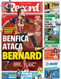 capa Jornal Record de 7 julho 2018