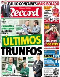 capa Jornal Record de 7 setembro 2018