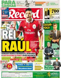 capa Jornal Record de 8 abril 2018