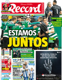capa Jornal Record de 9 abril 2018