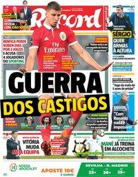 capa Jornal Record de 9 maio 2018