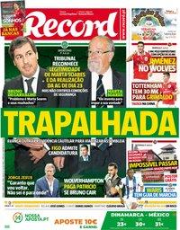 capa Jornal Record de 9 junho 2018