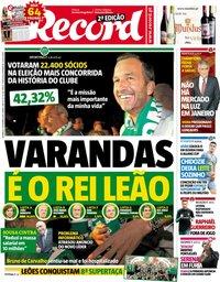capa Jornal Record de 9 setembro 2018