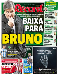 capa Jornal Record de 10 abril 2018