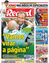 capa Jornal Record de 10 setembro 2018