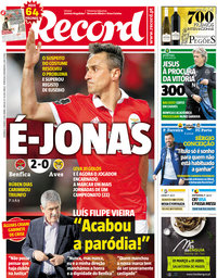 capa Jornal Record de 11 março 2018