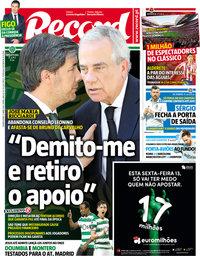capa Jornal Record de 11 abril 2018