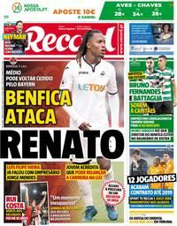 capa Jornal Record de 11 maio 2018