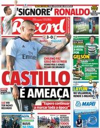 capa Jornal Record de 11 julho 2018