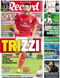 capa Jornal Record de 11 agosto 2018
