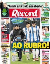 capa Jornal Record de 12 março 2018