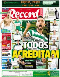 capa Jornal Record de 12 abril 2018