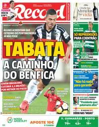 capa Jornal Record de 12 maio 2018