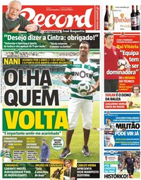 capa Jornal Record de 12 julho 2018