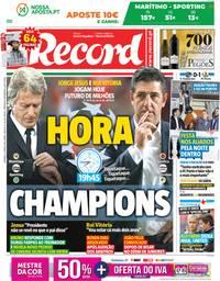 capa Jornal Record de 13 maio 2018