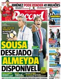 capa Jornal Record de 13 junho 2018