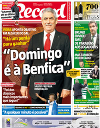 capa Jornal Record de 14 abril 2018