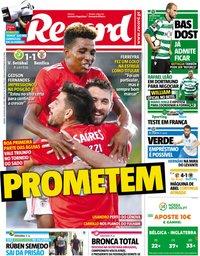 capa Jornal Record de 14 julho 2018