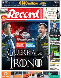 capa Jornal Record de 15 abril 2018