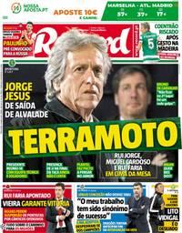 capa Jornal Record de 15 maio 2018
