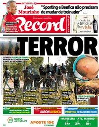 capa Jornal Record de 16 maio 2018