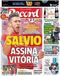 capa Jornal Record de 16 setembro 2018