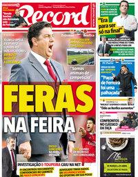 capa Jornal Record de 17 março 2018