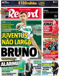 capa Jornal Record de 17 abril 2018