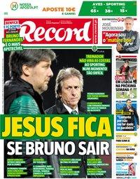 capa Jornal Record de 17 maio 2018