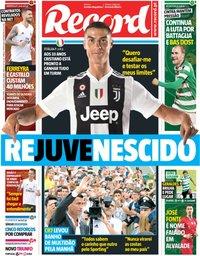 capa Jornal Record de 17 julho 2018