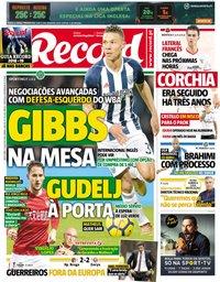 capa Jornal Record de 17 agosto 2018