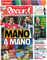 capa Jornal Record de 18 março 2018