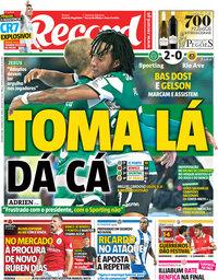 capa Jornal Record de 19 março 2018