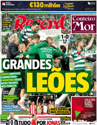 capa Jornal Record de 19 abril 2018