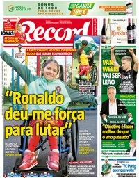 capa Jornal Record de 19 junho 2018