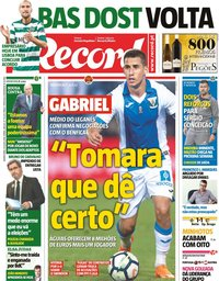 capa Jornal Record de 19 julho 2018