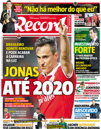 capa Jornal Record de 20 março 2018