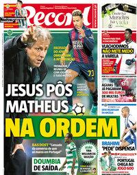 capa Jornal Record de 21 março 2018