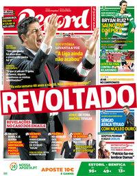 capa Jornal Record de 21 abril 2018