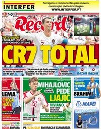 capa Jornal Record de 21 junho 2018