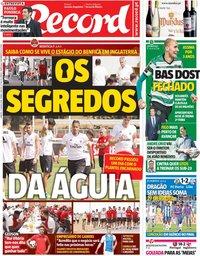 capa Jornal Record de 21 julho 2018
